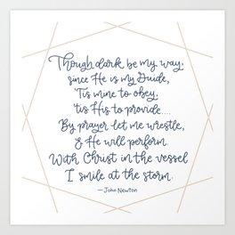 John Newton poem Art Print