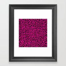 Neon Pink Leopard Framed Art Print