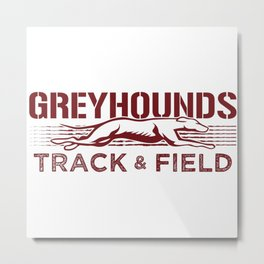 Eaton Rapids Greyhounds Track and Field (Red) Metal Print