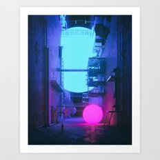 MELT.NEON (everyday 07.04.17) Art Print