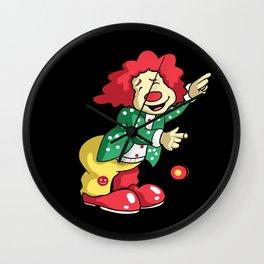 Funny Weiner Clown Wall Clock