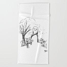 A Windy Day Beach Towel