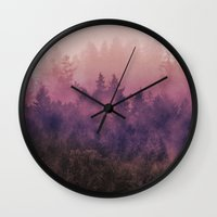 woods Wall Clocks featuring The Heart Of My Heart by Tordis Kayma