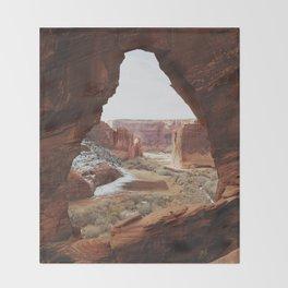 Window Rock Throw Blanket