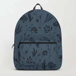 Wild Cosmos, Denim Blue Backpack