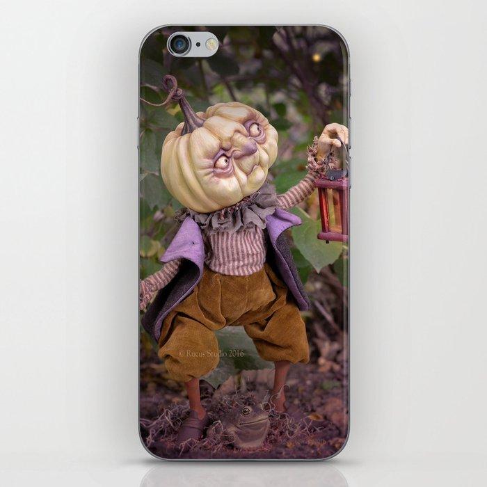 Rucus Studio Pumpkin Man and Fireflies iPhone Skin