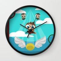 quidditch Wall Clocks featuring QUIDDITCH by Chris Thompson, ThompsonArts.com