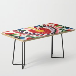 Red Mexican Flower Coffee Table