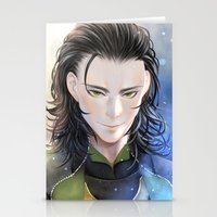 loki Stationery Cards featuring Loki by Lüleiya