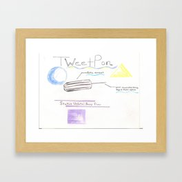 TweetPon Framed Art Print