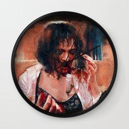 Pulp Fiction Adrenaline Shot Wall Clock