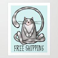 free shipping Art Prints featuring Free shipping by ewdondoxja