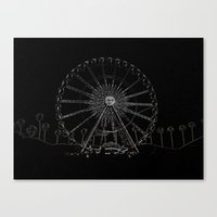 coachella Canvas Prints featuring Coachella by Adrienne