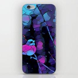 Junco Neon Pink Purple by CheyAnne Sexton iPhone Skin