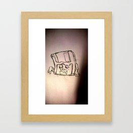 Zombi Disk Framed Art Print