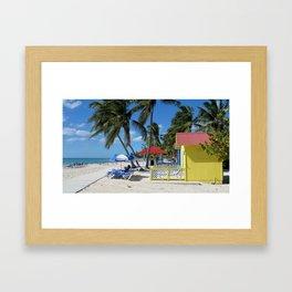 Caribbean Bungalow Framed Art Print