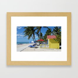 Caribbean Bungalow Framed Art Print
