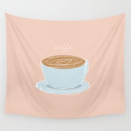 Italian coffee sketch Wall Tapestry