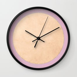 San Francisco Moon Minimalism Sweet Lilac Beige Wall Clock