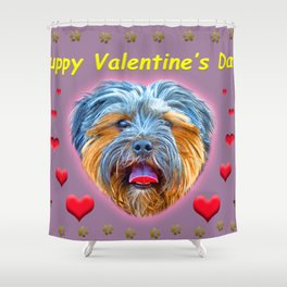 Puppy Valentine's Day! Shower Curtain