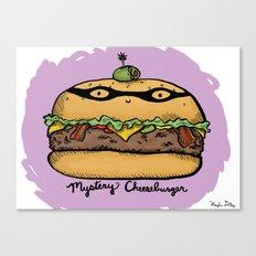 Mystery Cheeseburger Canvas Print