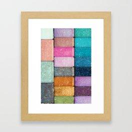 make-up colors Framed Art Print