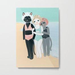 Summer Cats Metal Print