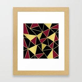 Golden Triangles Framed Art Print