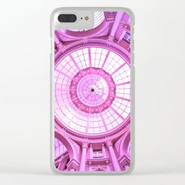 Pink Architecture Monument Clear iPhone Case