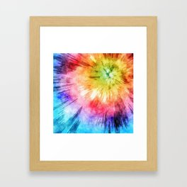 Tie Dye Watercolor Framed Art Print