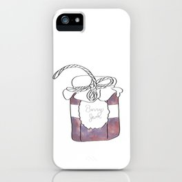 Purple Berry Jam Jar Digital Design iPhone Case