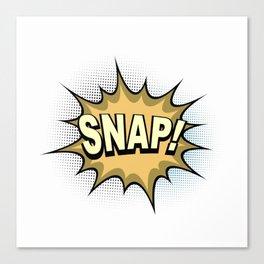 Comic Book SNAP! Canvas Print