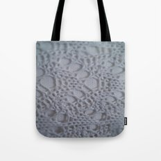 icy blue crochet cotton Tote Bag