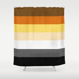 Gay Bear Pride Flag Shower Curtain