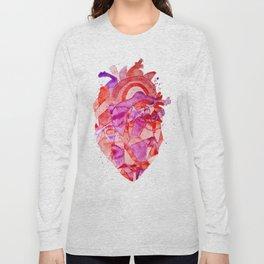 heart Fractal Long Sleeve T-shirt
