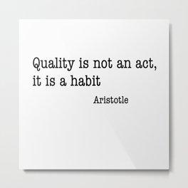 Aristotle quality Metal Print