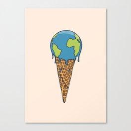 Earth Cream Cone Canvas Print
