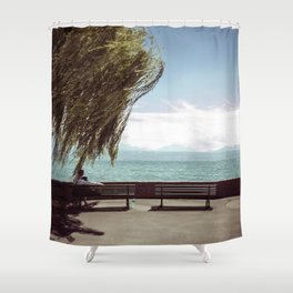 FALL IN LOVE WITH LAKE GENEVA Shower Curtain