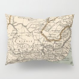 Vintage Map of South Africa (1889) Pillow Sham