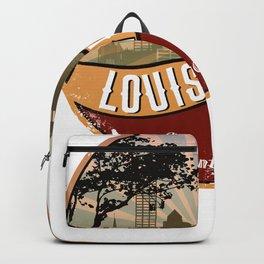 Louisville City Skyline Design Kentucky Retro Vintage Backpack