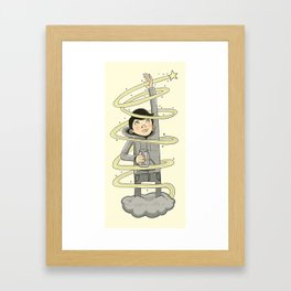 Reached For A Shooting Star Framed Art Print