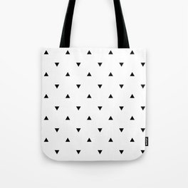 Black and white Triangles geometric pattern Tote Bag