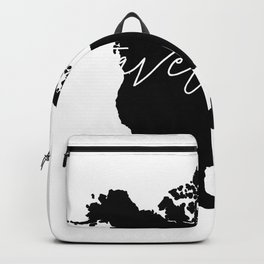 Black and white world map-travel often Backpack