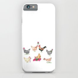Christmas Chicken Group iPhone Case