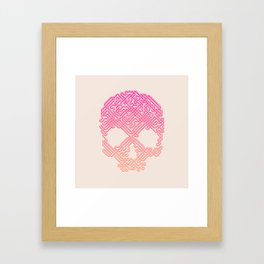 Labyrinthine Skull - Tropical Framed Art Print