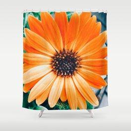 Orange Flower Flatlay 2 Shower Curtain