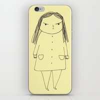 rubyetc iPhone & iPod Skins featuring Drawings of me being angry by rubyetc