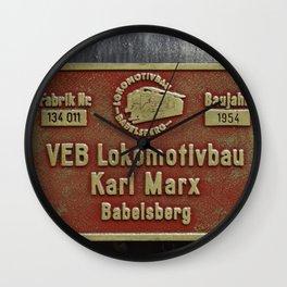 VEB Lokomotivbau Karl Marx, Babelsberg Wall Clock