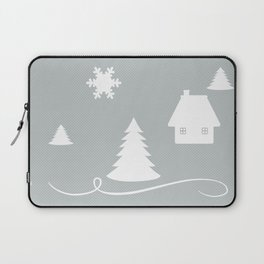 Winter Blues Collage Laptop Sleeve