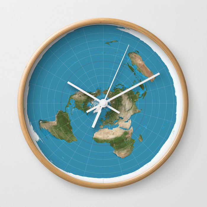 New Flat Earth Map.Flat Earth Map Wall Clock By Jacklarson Society6